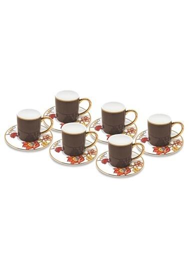 The Mia Dilaila Kahve Fincanı 6 Lı Set - Kahve Kahve